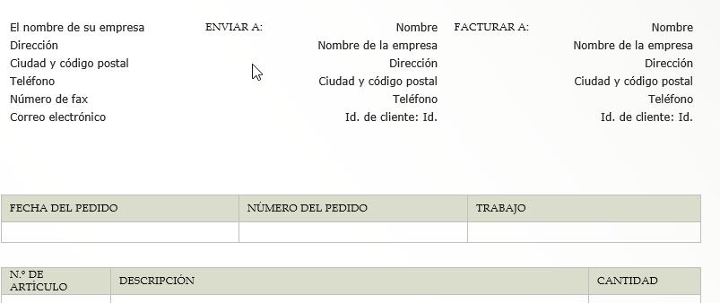 Modelo de factura rectificativa en blanco