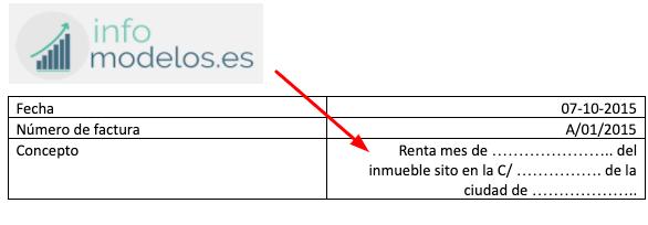modelo de factura en blanco para descargar